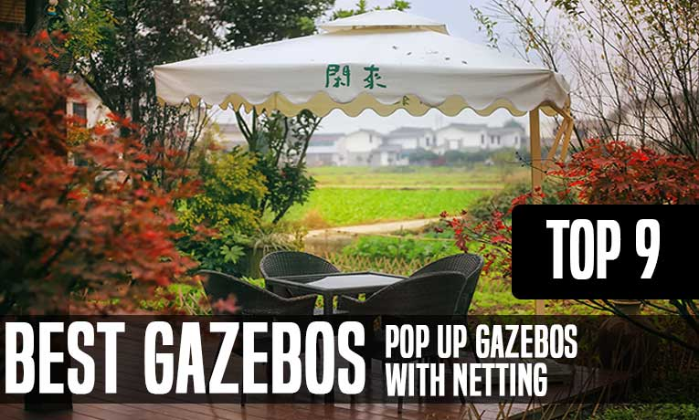 pop up gazebos with netting