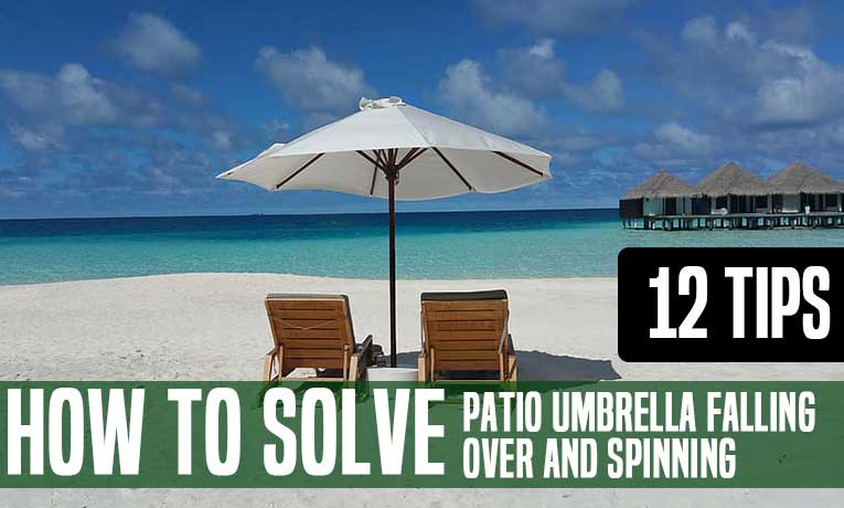 keep patio umbrella from falling over & spinning